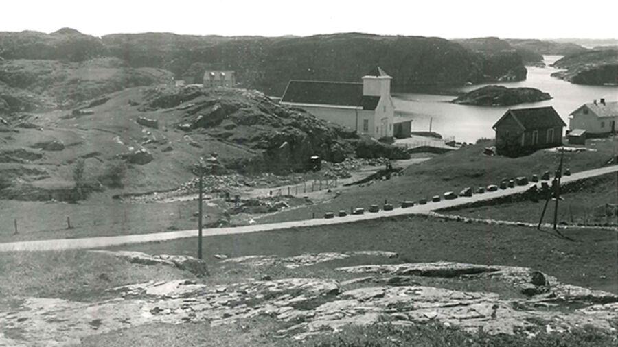 Blomvåg kyrkje lokalhistorie Blomvågfunnet